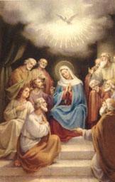 La discesa dello Spirito Santo su Maria e gli Apostoli - Tempo di preghiera