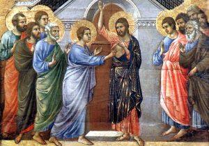 Gesùrisorto conferma la fede di Tommaso